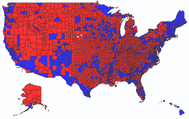 First Start With This Map Of Conservative America And Liberal America