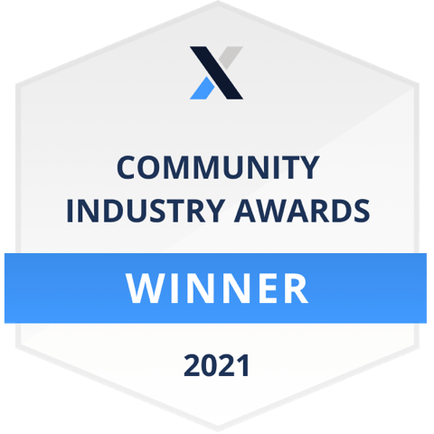 CMX 2021 Community of the year Gewinner Badge