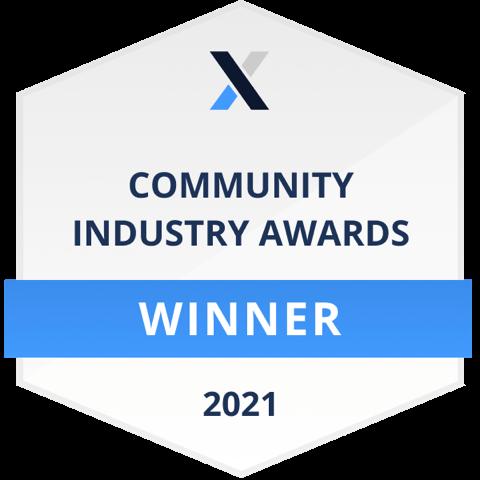 CMX 2021 Badge du lauréat de la communauté de l'année CMX 2021