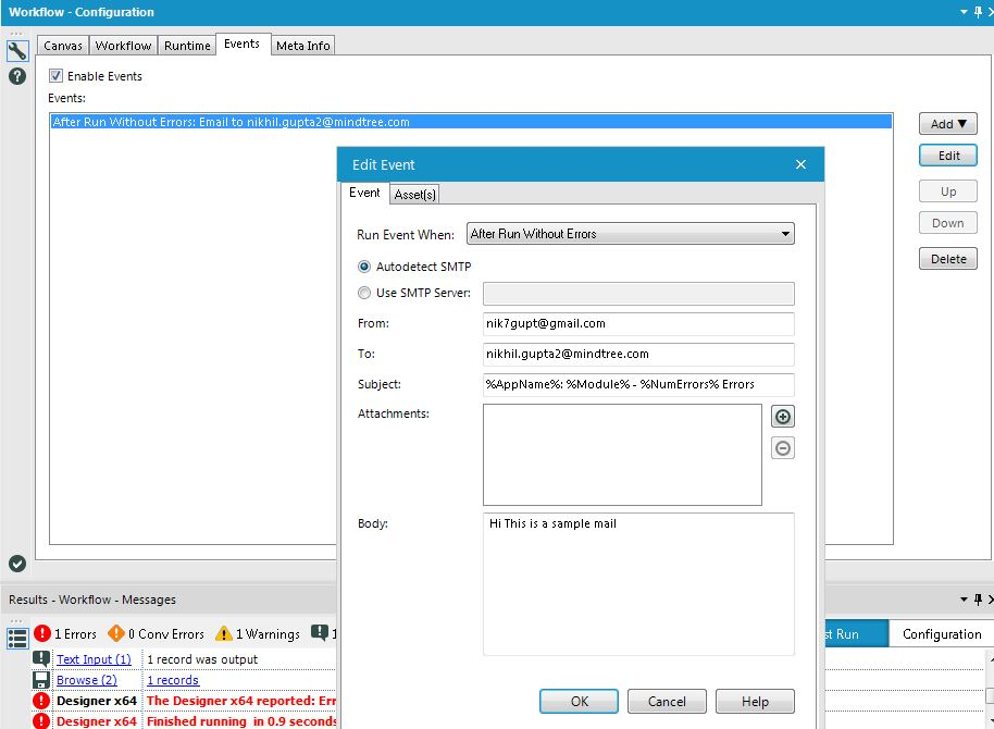 Solved: Sending Email - Alteryx Community