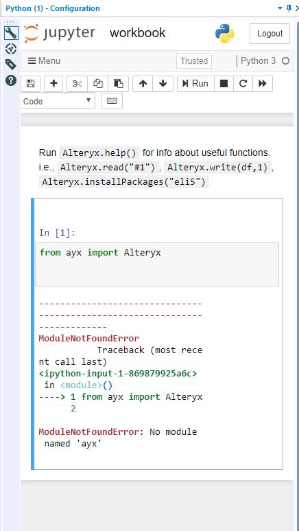 Import Alteryx library - New Python tool - Alteryx Community