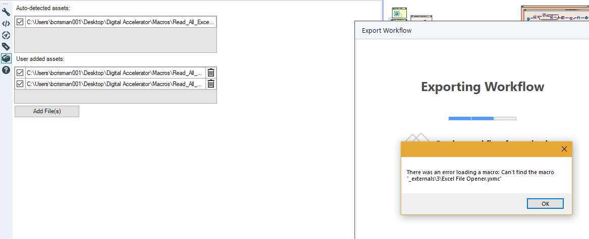 Exporting Workflow with Macros - Alteryx Community