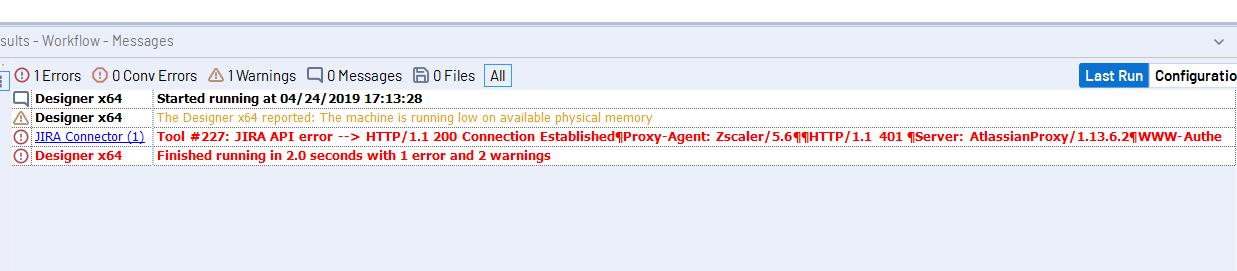 API error when using the Jira connector - Alteryx Community