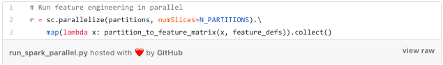 Code to parallelize feature matrix calculation.
