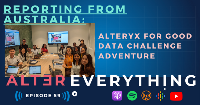 Vaishali and the student participants at the Alteryx Sydney office for Alteryx training