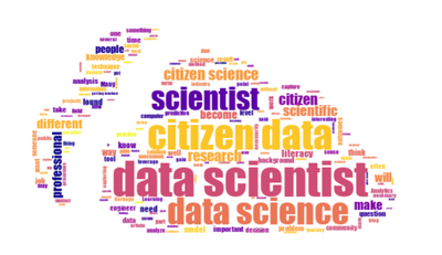 Visualization of text is possible with the word cloud tool, which is able to take another image as a template.