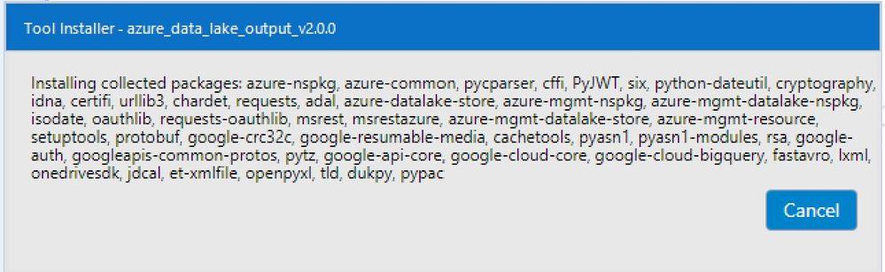 AzureDataLakeConnectorPackages.jpg