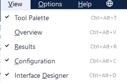 All other window options are located here.