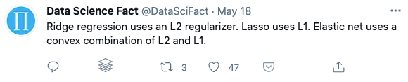 Example of Data Science Fact from Twitter