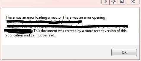 Macro Error Message