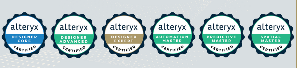 We will issue digital badges for all our certifications including Designer Core, Designer Advanced, Designer Expert, Predictive Master, Automation Master and Spatial Master.