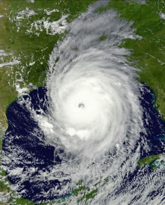Hurricane Harvey upon landfall in the United States.