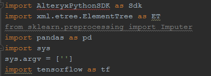 Add in the sys.argv variable that Tensorflow wants to our plugin code.