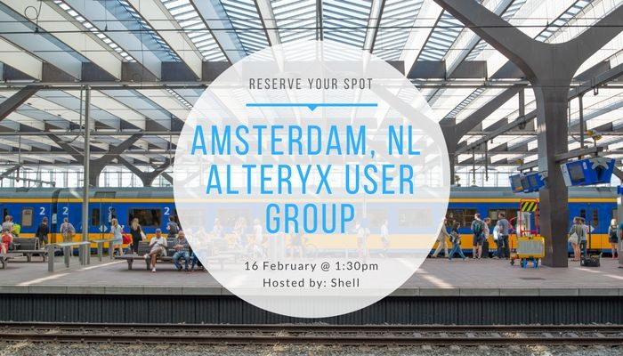 16/2 Amsterdam Alteryx User Group Meeting