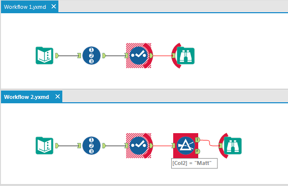 Visual Diff: see how 2 versions of a workflow differ. A feature born out of the first Innovation Days.