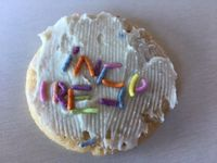 Inspire cookie, made by my kid