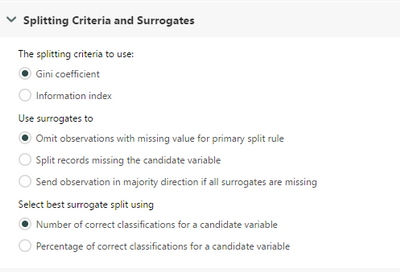 splitting criteria, yes yes...of course!