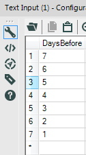 I had to type every one of these numbers! What if I wanted to return much more than 7 days?