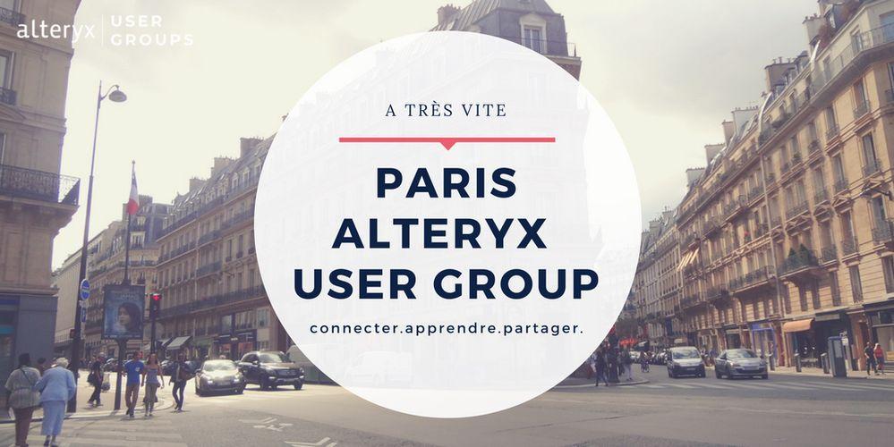 Rejoignez-nous pour un nouvel Alteryx User Group à Paris.