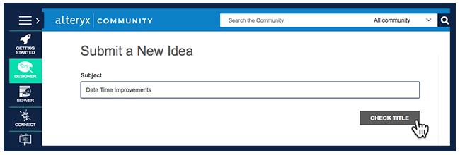 Step 1 - Check for Similar Ideas