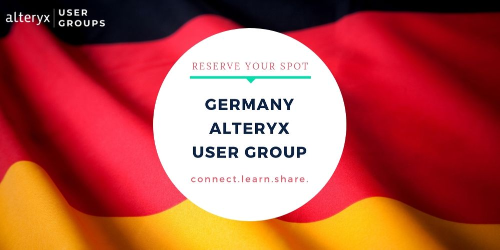 Germany Alteryx User Group Virtual Meeting, 5. Dezember.