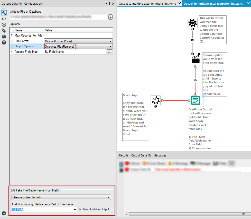 Output multiple files using the same excel template   Alteryx ...