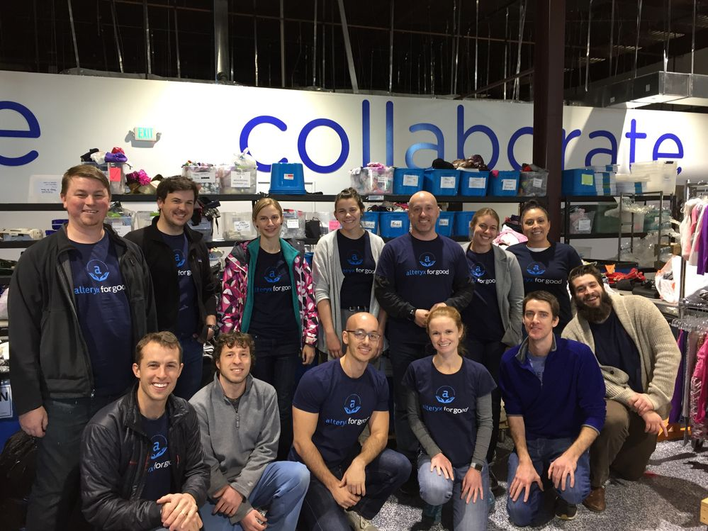In between challenges, a group of Alteryx associates spent an afternoon volunteering onsite