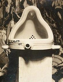 Duchamp's Fountain  (1917), the great-granddaddy of conceptual art.
