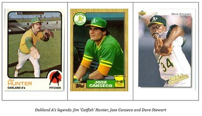 Oakland A's legends: Jim 'Catfish' Hunter, Jose Canseco and Dave Stewart