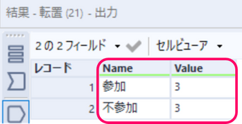Alteryx Excel 比較 COUNTA関数 COUNTBLANK関数output Alteryx LHit 2 .png