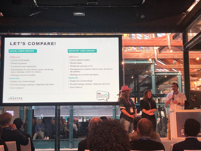 Local & Industry User Group Leaders presenting together at Inspire Europe 2019