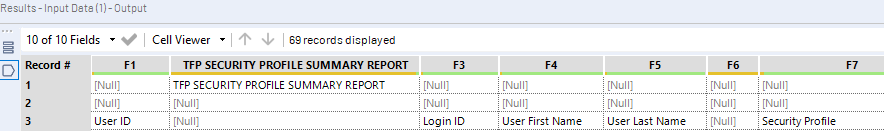 File with blank column A