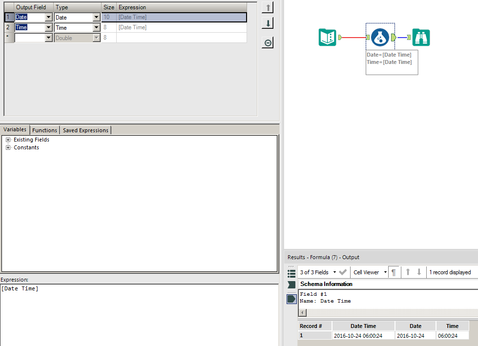 Solved: Parsing date and time into separate fields - Alteryx