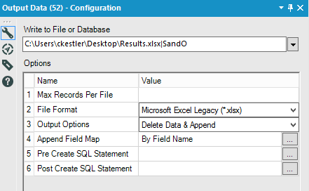 Solved: Output data to a formatted excel file with multipl