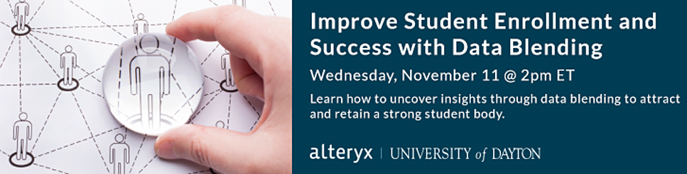 Webinar: Improve Student Enrollment and Success with Data Blending
