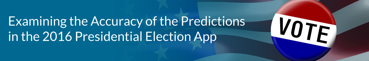 Examining the Accuracy of the Predictions in the 2016 Presidential Election App