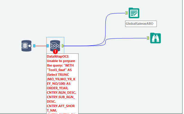 Solved: Error-DataWrapOCI: Unable to Prepare the Query - Alteryx