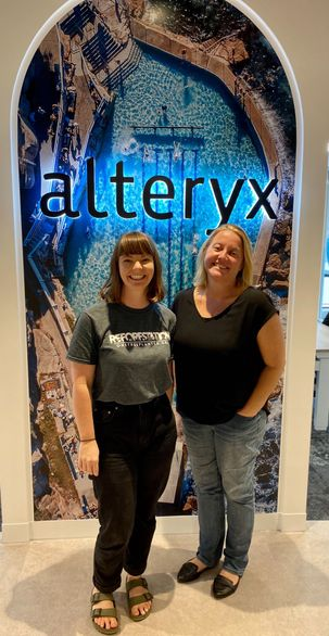Beth (left) and Kylie at the Alteryx Sydney office!