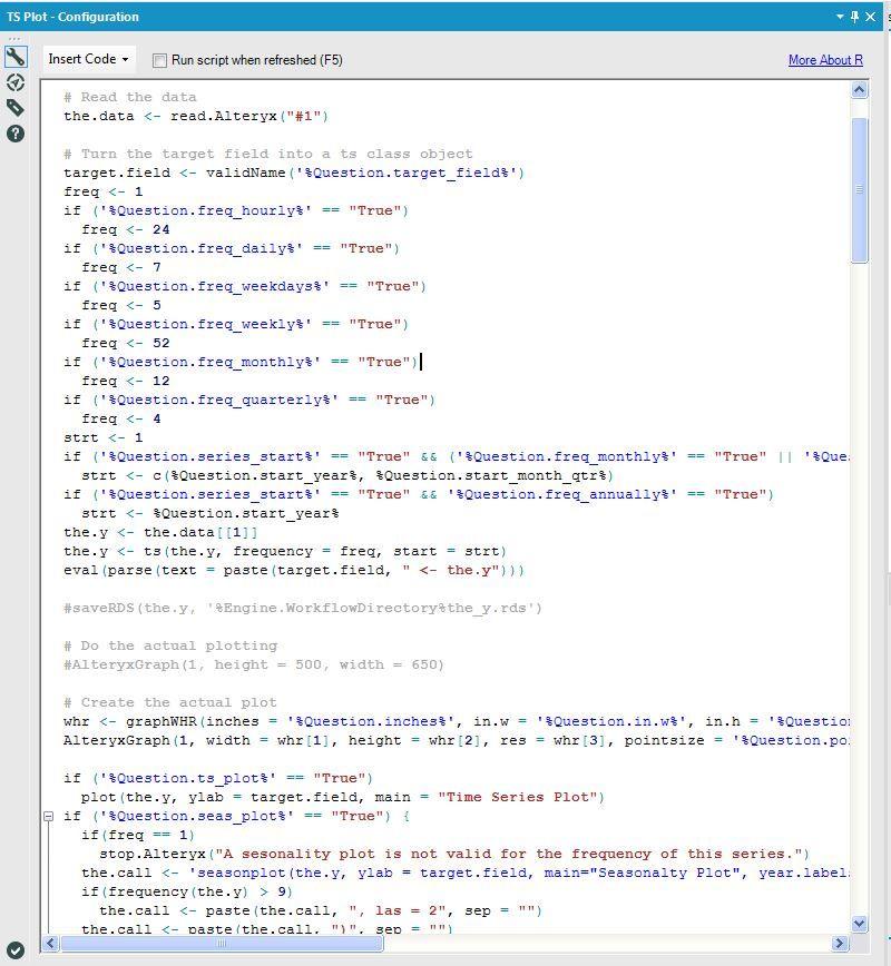 R Script for Plot Macro