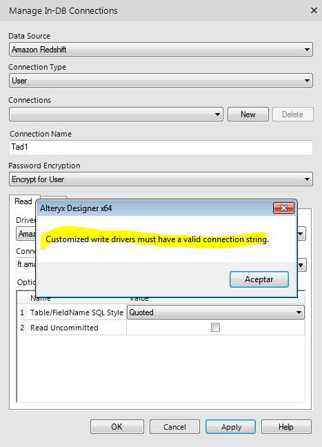 Solved: Connect-InDB & Redshift - Alteryx Community