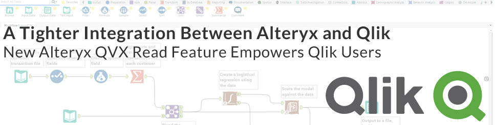 A Tighter Integration Between Alteryx and Qlik