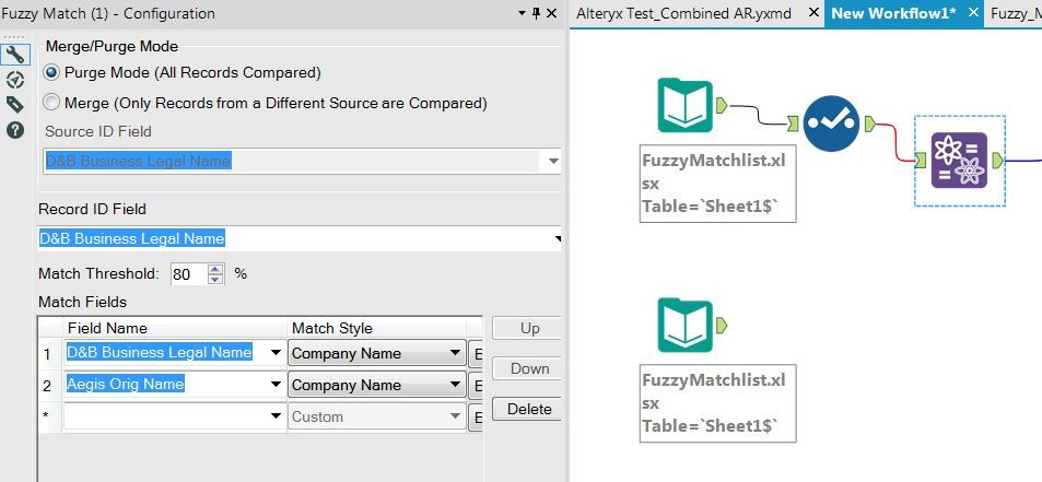 Solved: Please help with Fuzzy Match   Thank you  - Alteryx Community