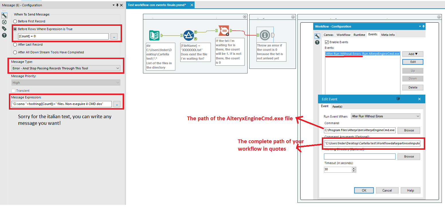 Running workflow based on an event(placing a file) - Alteryx Community