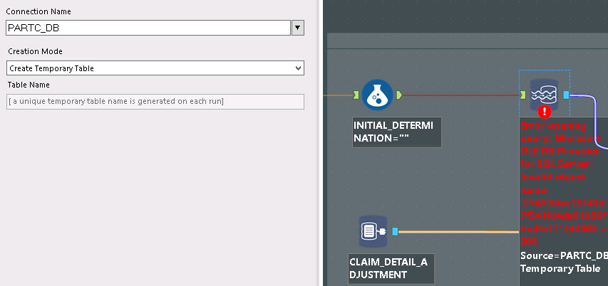Solved: Data Stream In - Temp table SQL Server - Alteryx Community