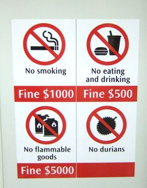 Yes - Durians are ranked right up there with Flammable or explosive goods; and smoking.