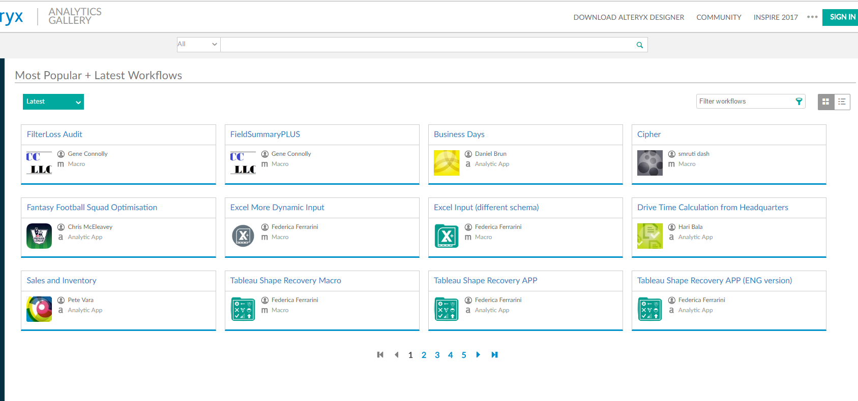 Solved: Custom Main Page in Gallery - Alteryx Community
