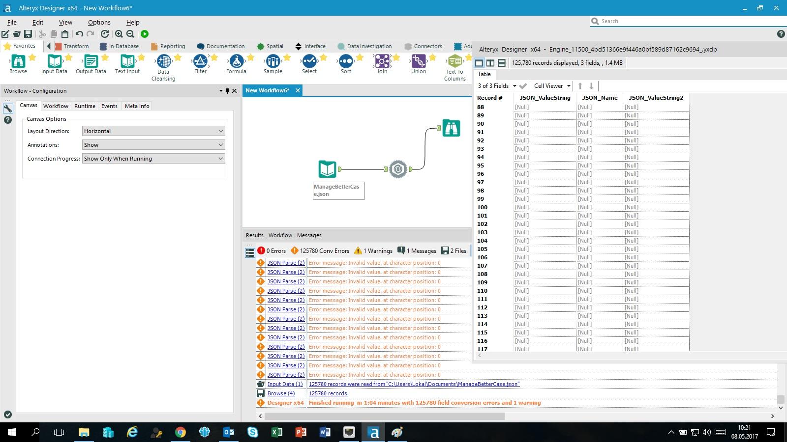 read JSON file to database - Alteryx Community