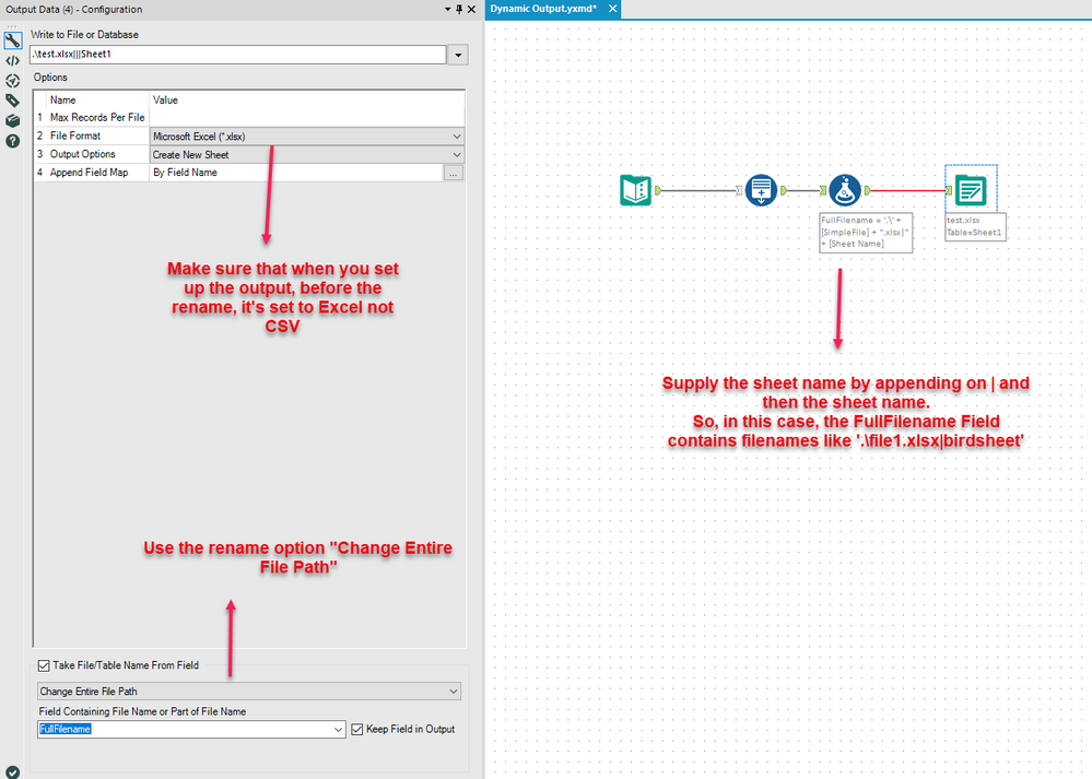 Solved: Overwrite Sheet (Drop) to a Dynamically Named File - Alteryx ...