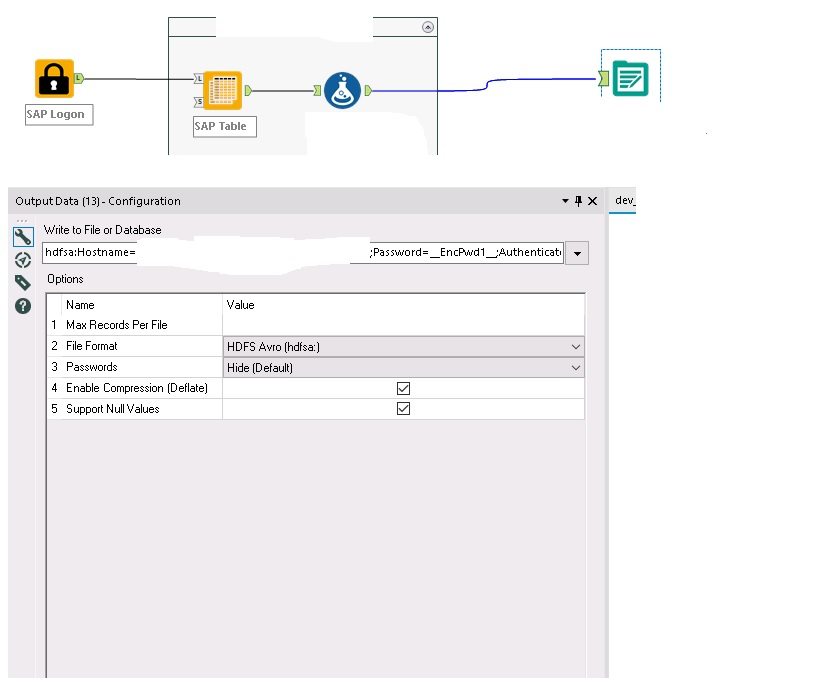 Solved: Create tabel in hadoop by generatetd AVRO fille - Alteryx