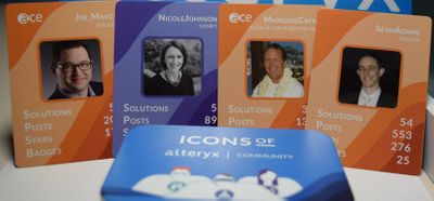 Icons of Alteryx Community Card Game